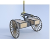 Picture of 1800's Horse Drawn Gatling Gun Weapon Model Poser Format