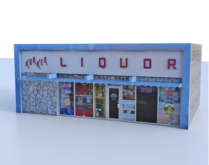 Picture of Liquor Store Building Model FBX Format