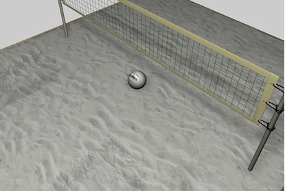 Picture of Volley Ball Court Environment FBX Format