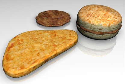 Picture of Breakfast Food Models Set 2 FBX Format
