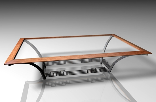 Picture of Industrial Style Coffee Table Furniture Model FBX Format