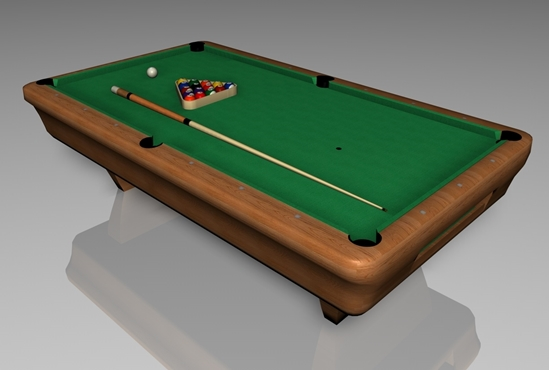 Picture of Billiard Table Furniture Model FBX Format