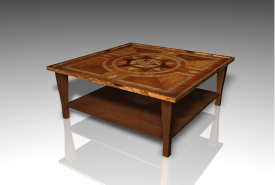 Picture of Low Den Table Furniture Model FBX Format