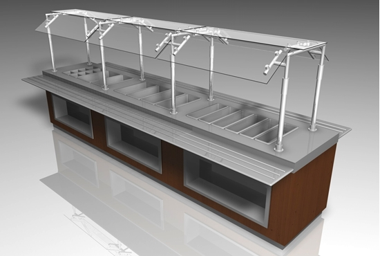 Picture of Food Buffet Table Furniture Model FBX Format