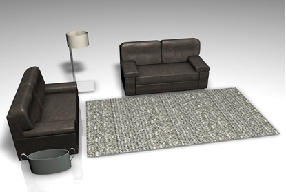 Picture of Living Room Furniture Model Set FBX Format