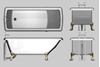 Picture of Claw Foot Tub Model FBX Format