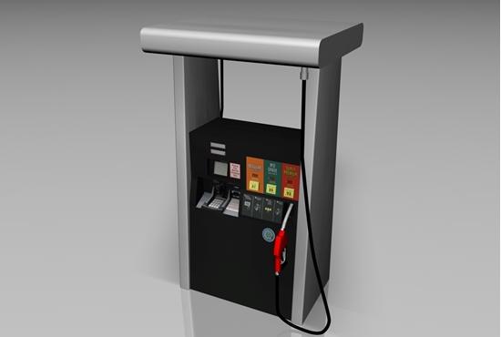 Picture of Gas Pump Fuel Dispenser Model FBX Format