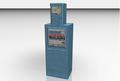 Picture of Newspaper Dispenser Model FBX Format