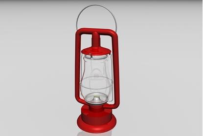Picture of Oil Lantern Model FBX Format