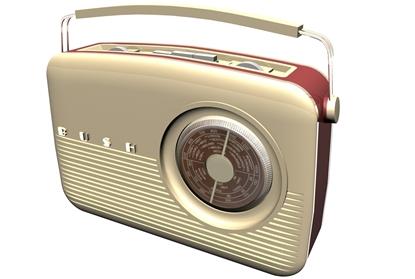 Picture of Vintage Bush Radio Model Poser Format