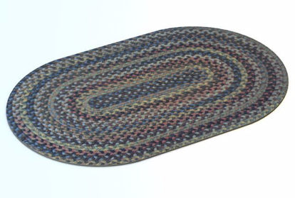 Picture of 1950's Era Woven Throw Rug Model Poser Format