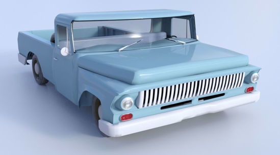 Picture of 1960's Farm Pickup Truck Model Poser Format