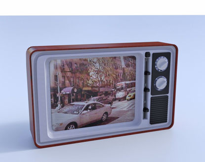 Picture of 1970's Television Set Model Poser Format