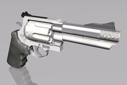 Picture of 357 Magnum Pistol Weapon Model FBX Format