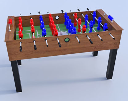 Picture of 3D Foosball Table Furniture Model Poser Format