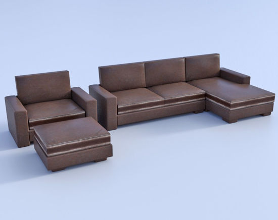 Picture of 4 Piece Sectional Furniture Models Poser Format