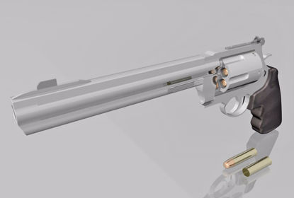 Picture of 44 Magnum Pistol Weapon Model FBX Format