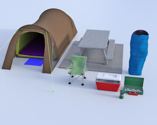 Picture of 7 Piece Camping Models Bundle Poser Format
