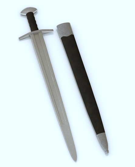 Picture of Ancient Viking Sword Model Poser Format