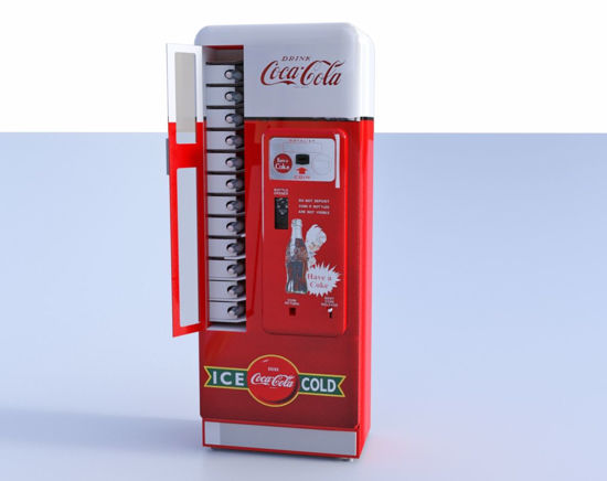 Picture of Antique Soda Machine Model Poser Format