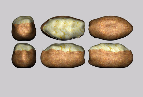 Picture of Baked Potato Model FBX Format