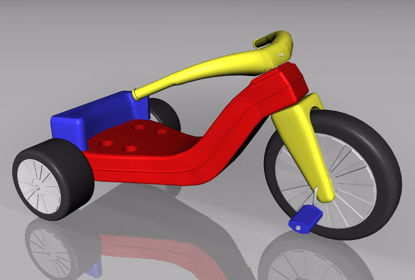 Picture of Big Wheel Toy Model FBX Format