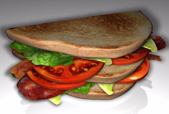 Picture of BLT Sandwich Food Model FBX Format