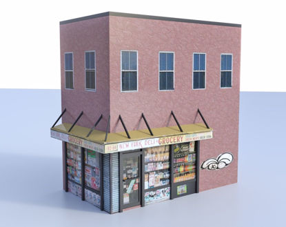 Picture of Bodega Building Model FBX Format