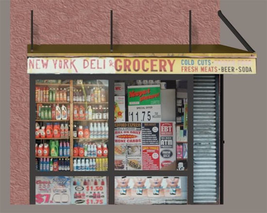 Picture of Bodega Store Building Model Poser Format