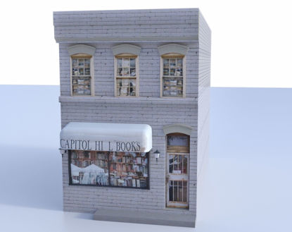 Picture of Book Store Building Model FBX Format