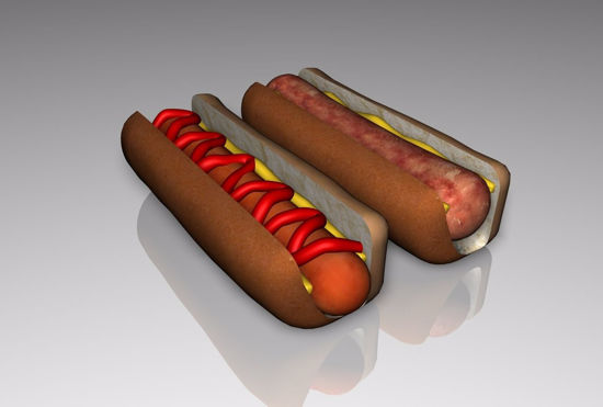 Picture of Bratwurst and Hot Dog Food Models FBX Format