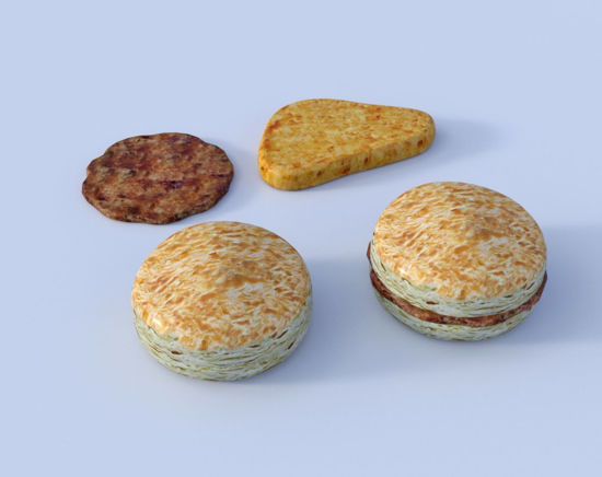 Picture of Breakfast Food Models Set 2 Poser Format