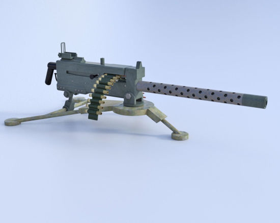 Picture of Browning M1919 Machine Gun Model Poser Format