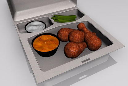 Picture of Buffalo Wings Food Models FBX Format