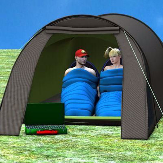 Picture of Camping Tent and Sleeping Bag Models Poser Format
