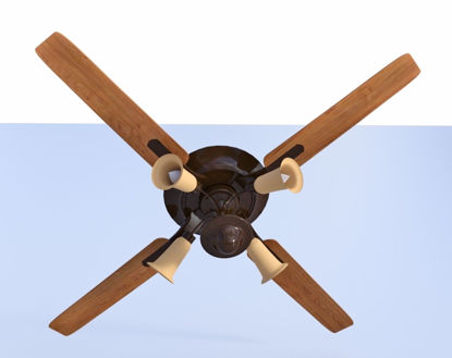 Picture of Ceiling Fan Model FBX Format