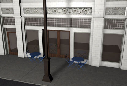 Picture of City Street Dining Environment FBX Format