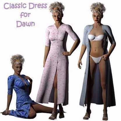 Picture of Classic Dress for Hivewire3D Dawn Figure