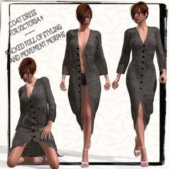 Picture of Coat Dress for for DAZ Victoria 4