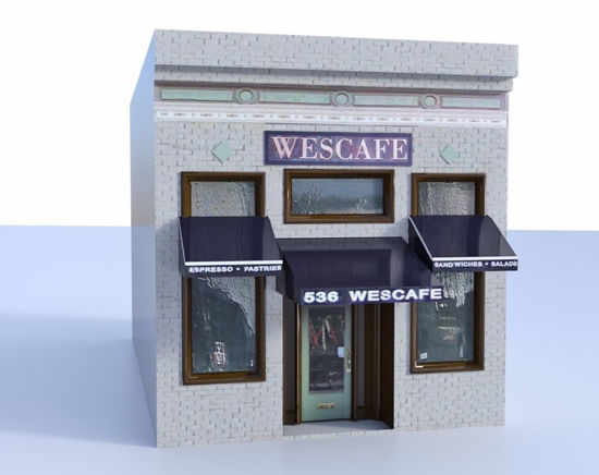 Picture of Coffee Shop Building Model FBX Format