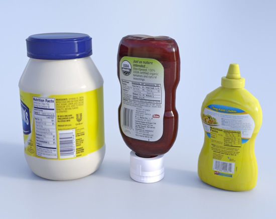 Picture of Condiment Food Container Models Set 1 Poser Format