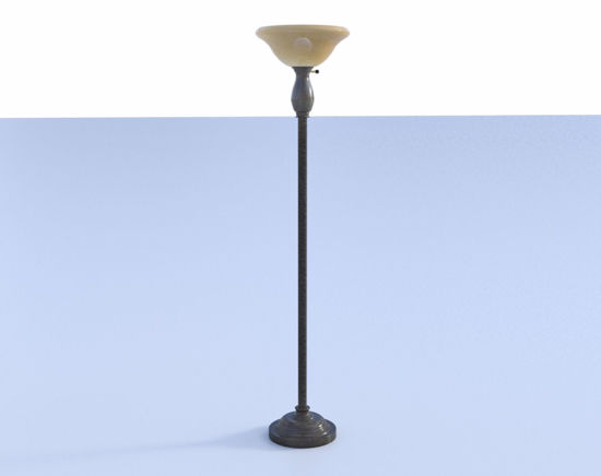 Picture of Contemporary Torchiere Lamp Model Poser Format