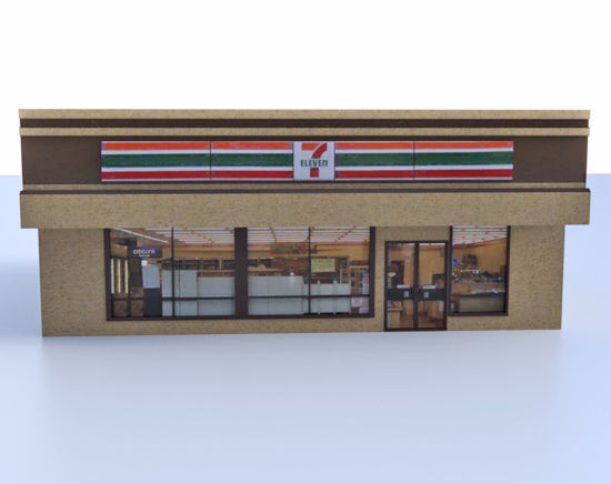 Picture of Convenience Store Building Model FBX Format