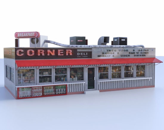 Picture of Corner Deli Building Model FBX Format