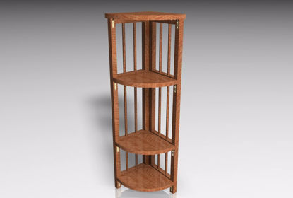 Picture of Corner Shelves Furniture Model FBX Format