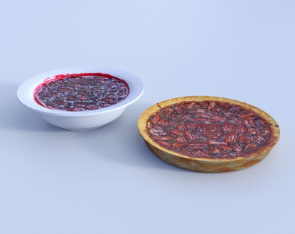 Picture of Cranberry Sauce and Pecan Pie Models Poser Format
