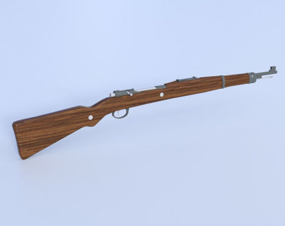 Picture of Czech Mauser VZ24 Sniper Rifle Model  Poser Format
