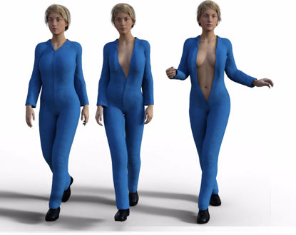 Picture of DAZ Genesis 3 Female Boiler Suit and Boot Models