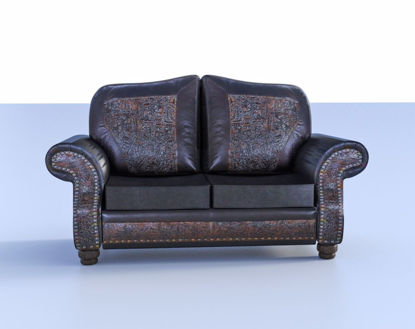 Picture of Decorative Leather Couch Model Poser Format