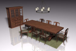 Dining Room Furniture Models FBX Format